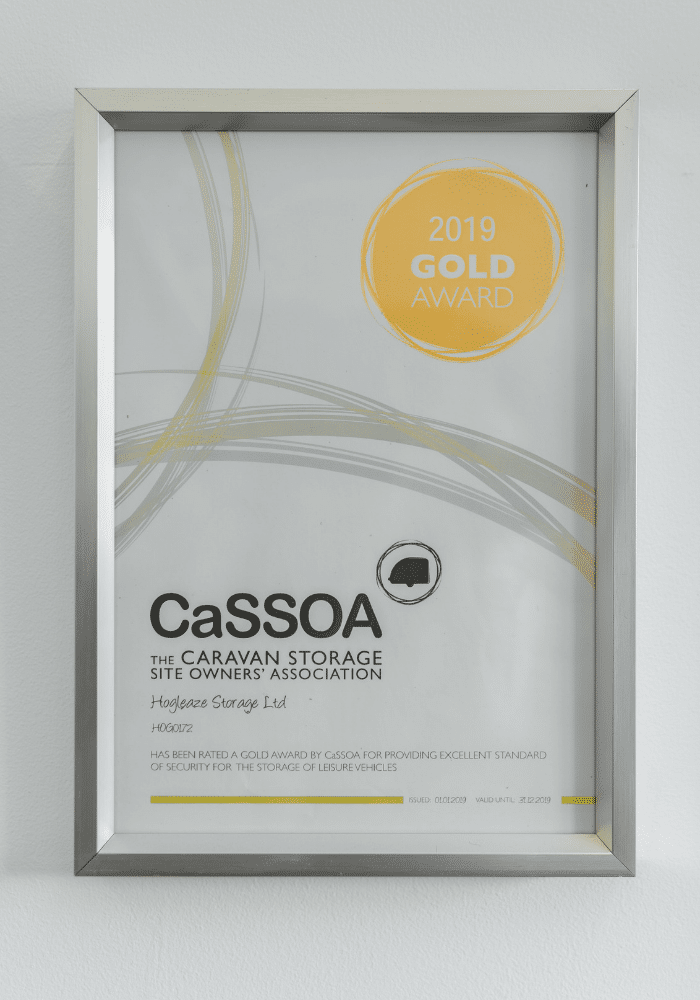 Hogleaze Storage receive the CaSSOA gold award
