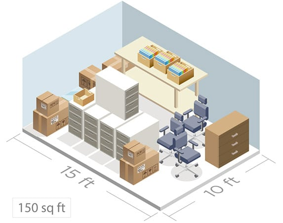 Business self storage size guide